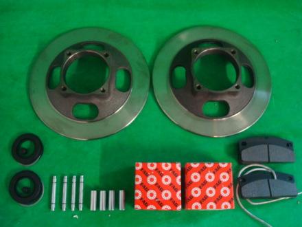 Komplett bromskit 209mm Microcar